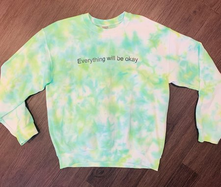 Søren Everything will be ok tie dye sweatshirt