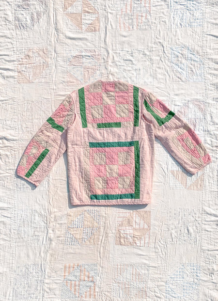 Carleen Quilt Liner Jacket - Pink/Green
