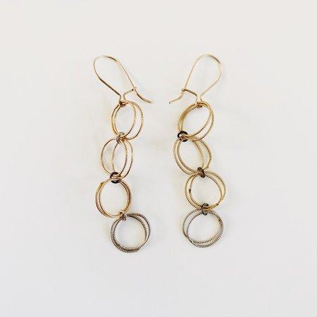 Nancy Yuan Double Circle Dangle Earrings