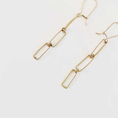 Nancy Yuan Geometric Dangle Earrings -  Gold Fill