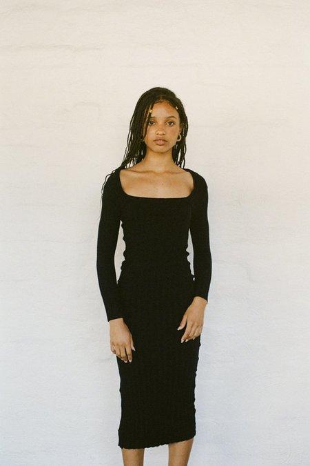 SISTER 'Elisa' Rib Dress - Black