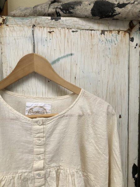 Auntie Oti Gathered Blouse - Natural