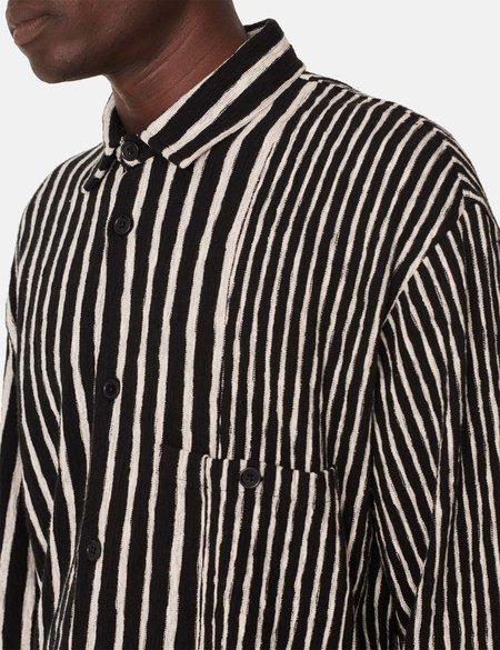 YMC Ryder Overshirt - Black/Ecru