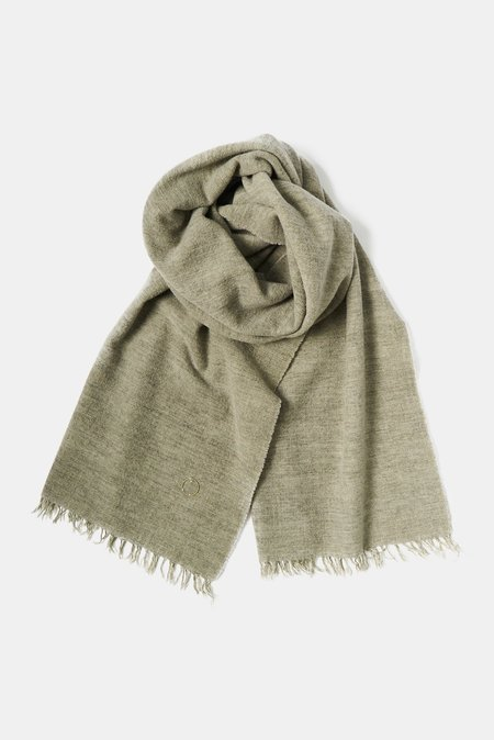 Oyuna Ambra Woven Luxury Wool/Cashmere Shawl - Moss