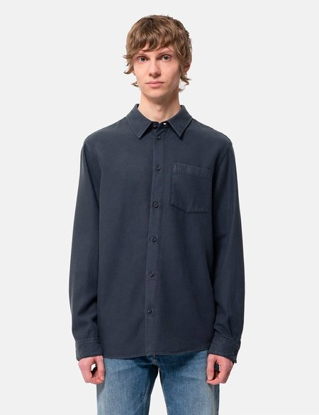 Nudie Jeans Chuck Fluid Shirt - Twill Navy