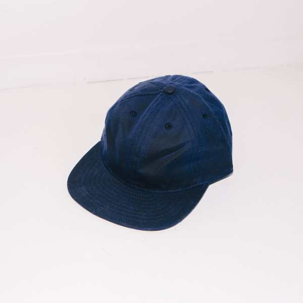 Fair Ends Navy Waxed Cotton Ball Cap