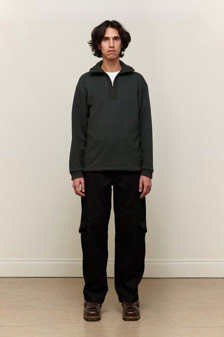 And Austin Half Zip Mockneck  sweater - Forrest Green
