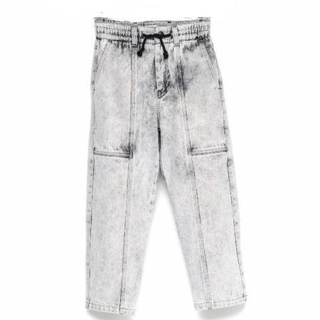 Kids Andorine Denim Jogging Trousers - Grey