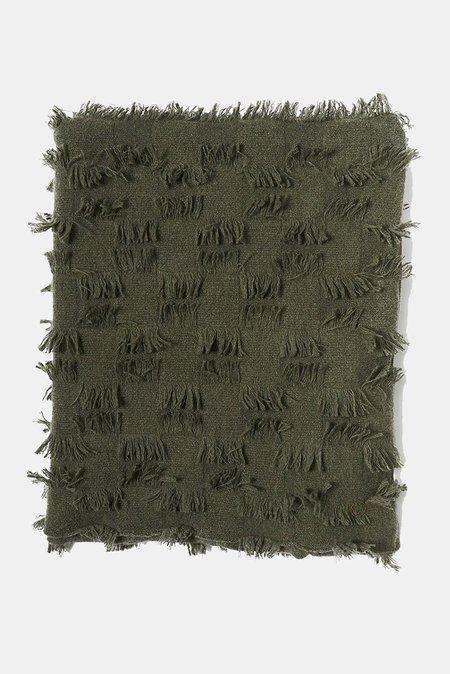 Oyuna Seren Knitted Cashmere Throw - Moss