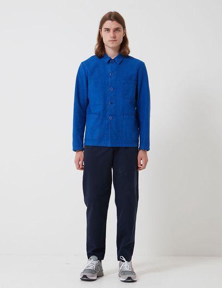 Bhode Chore Overdyed Workwear Jacket - Buggati Blue