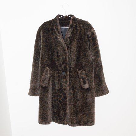 Kintsugi Faux Fur Coat