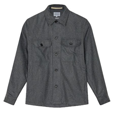 Kyle Wool Overshirt - Charcoal Melange