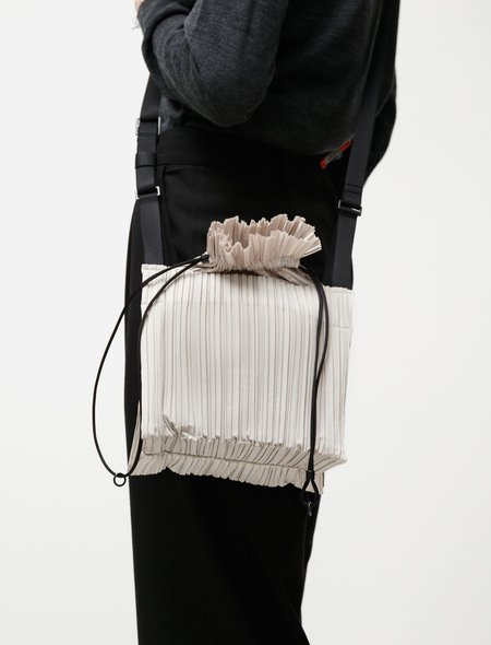 Pleats Please by Issey Miyake Square Pleats Bag - Ivory