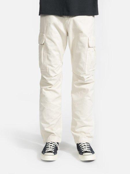 General Admission Herringbone Cargo Pant - Natural