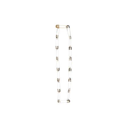 AMBUSH KK Safety pin link necklace - silver