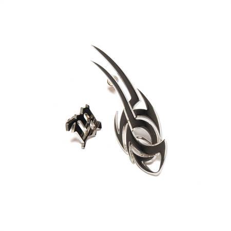 MISBHV Tribal + Monogram earrings - Sterling silver