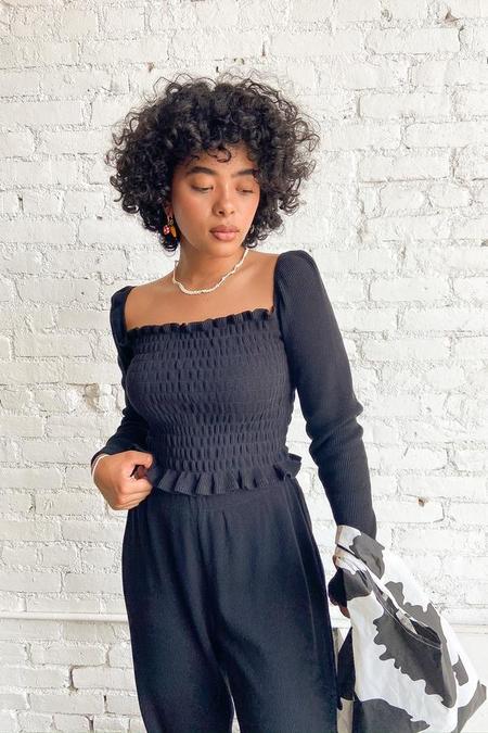 Lisa Says Gah Sophie Top Long Sleeve - Obsidian