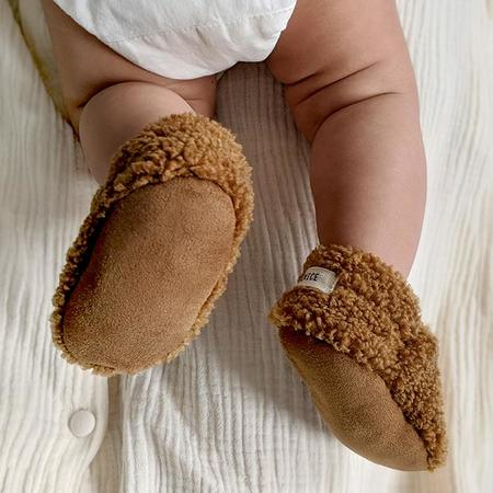 Kids ADVICE Article Two Vegan Shearling Booties - Earth Brown