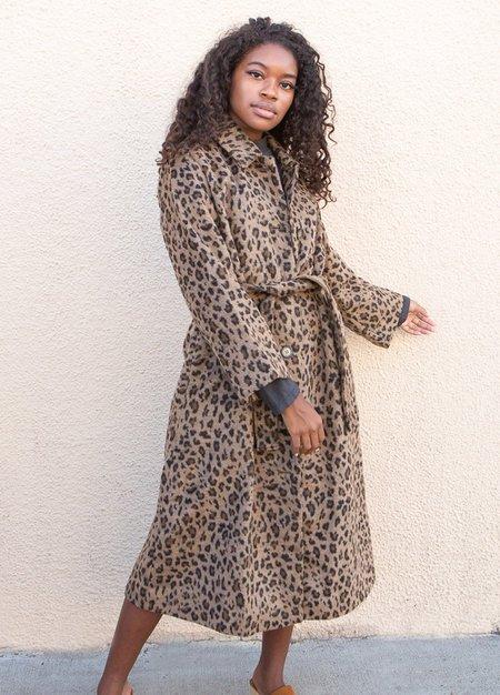Ali Golden Trench Coat - Leopard