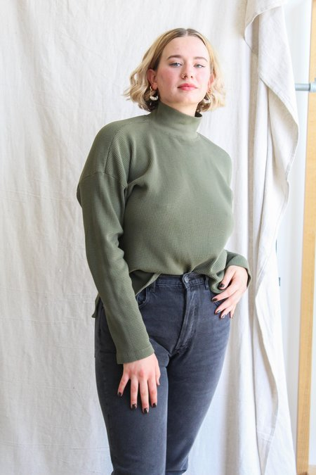 BACK BEAT RAGS Waffle Thermal - Army