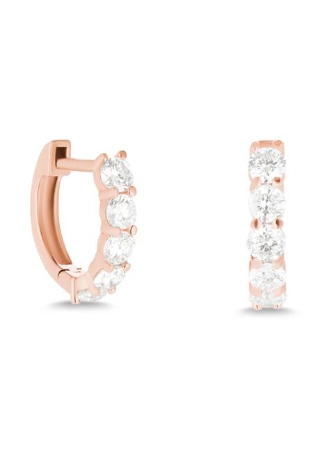 Primary New York Sparkler Huggie - 14k gold / diamonds