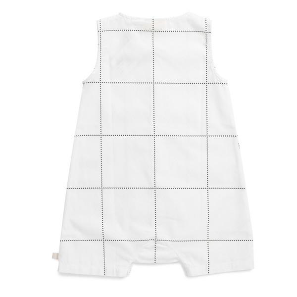 Tiny Cottons Tartan Woven Short One-Piece