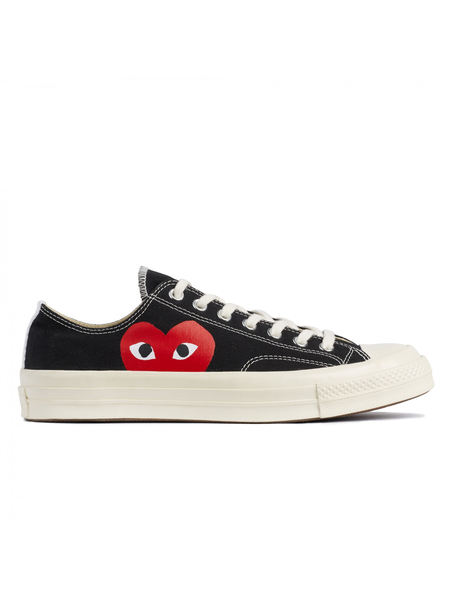 Unisex Play Comme Des Garçons x Converse Chuck Taylor All Star '70 Low Sneakers - Black