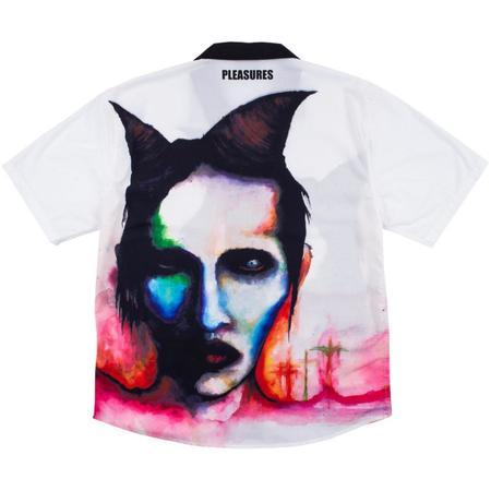 PLEASURES Watercolor Camp Shirt - White
