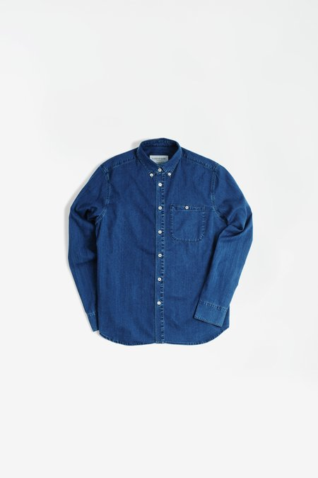 A Kind Of Guise Permanents Button Down Shirt - Washed Denim