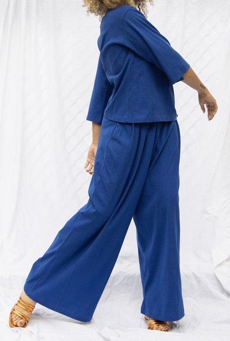 Kowtow Drape Pant - Electric Blue