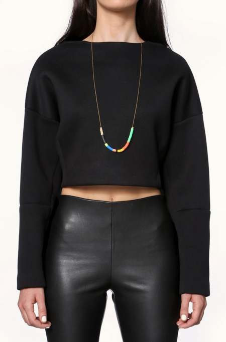 JULIE THÉVENOT Simple Isiand necklace - Gold