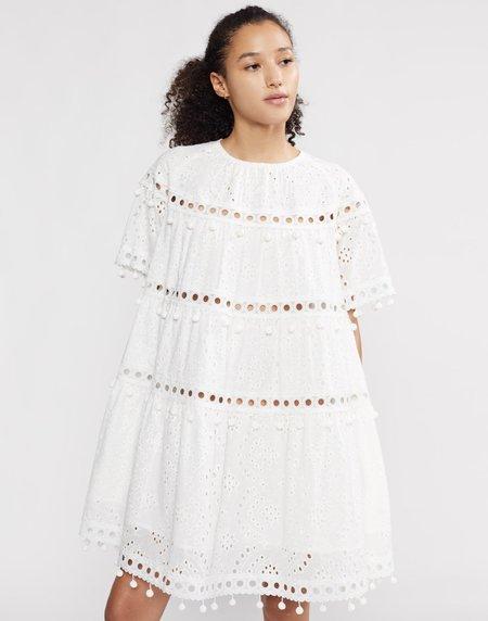 Cynthia Rowley Eyelet Postcard Dress