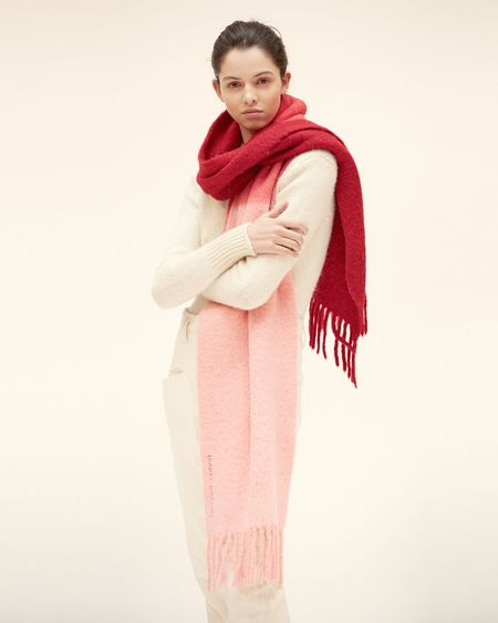 ISABEL MARANT ÉTOILE Firna Scarf - Red/Pink