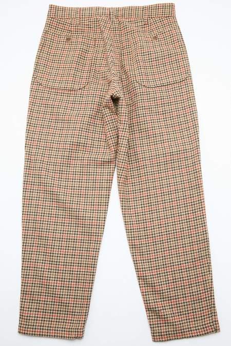 Engineered Garments Carlyle Pant in Wool Big Gunclub Check - Tan/Orange