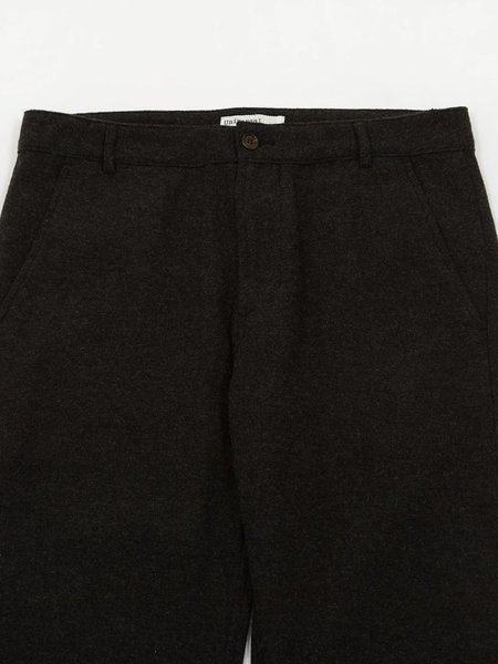 Universal Works Aston Wool Marl Trousers - Charcoal