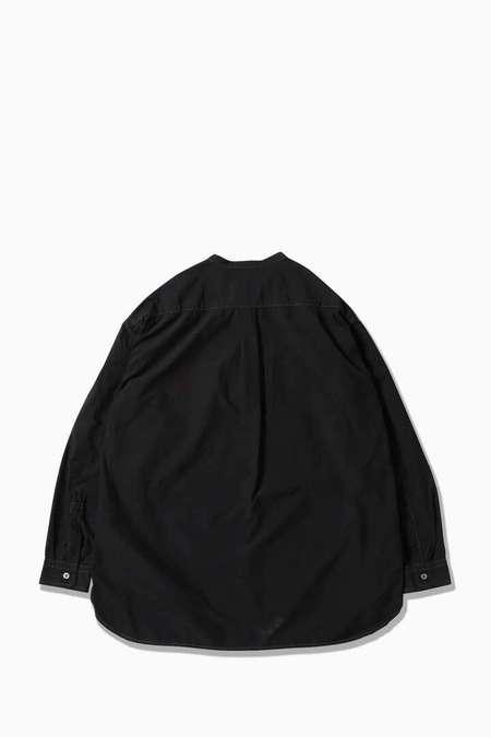 and wander CORDURA Typewriter Band Collar Shirt - Black