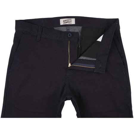 Naked & Famous STRETCH CHINO - PURE INDIGO