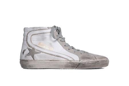 Golden Goose Slide Leather Sneaker - White/Suede Star