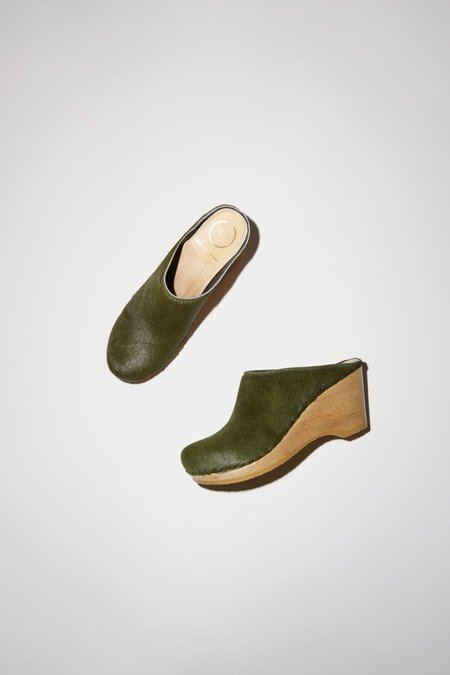 No.6 New School Clog on Wedge - Forest Pony