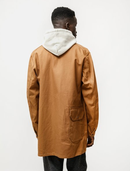 Engineered Garments Long Logger Jacket in 12oz Duck Canvas - Brown