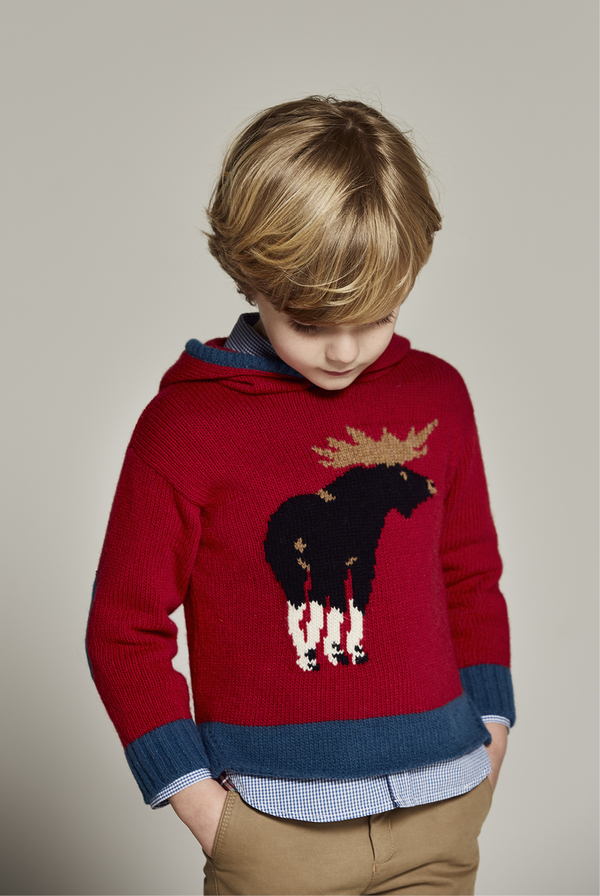 Nanos Moose Hooded Sweater - CouCou Boston