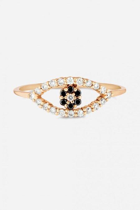 Carbon & Hyde Evil Eye Mini Ring