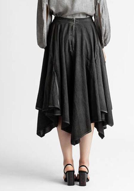 Venia Antigone Offset Hem Skirt - Sulfur