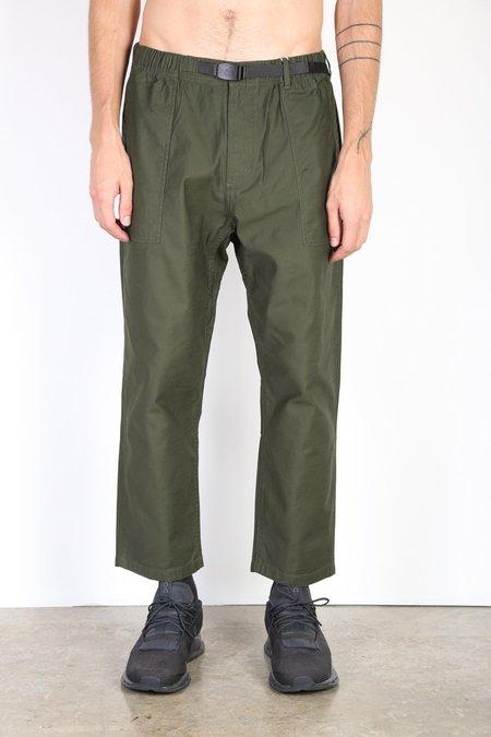 Gramicci Back Satin Loose Taper Pants - Olive