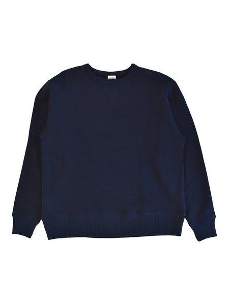 Velva Sheen Made In Japan Loopwheeler Crewneck - Navy