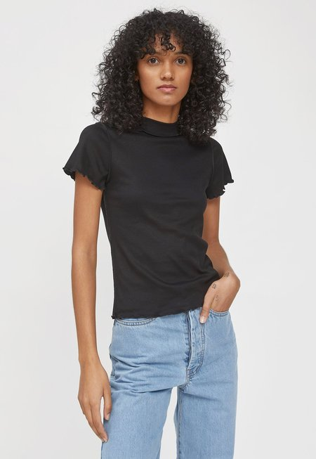 permanent vacation Luxe Baby Tee - Black