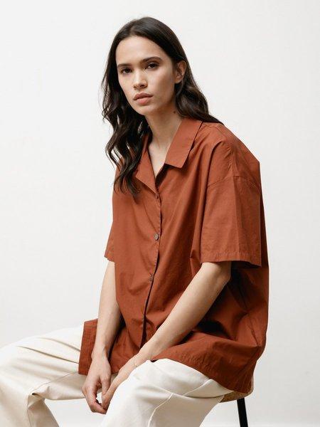 Priory Edition Shirt - Light Poplin Chestnut