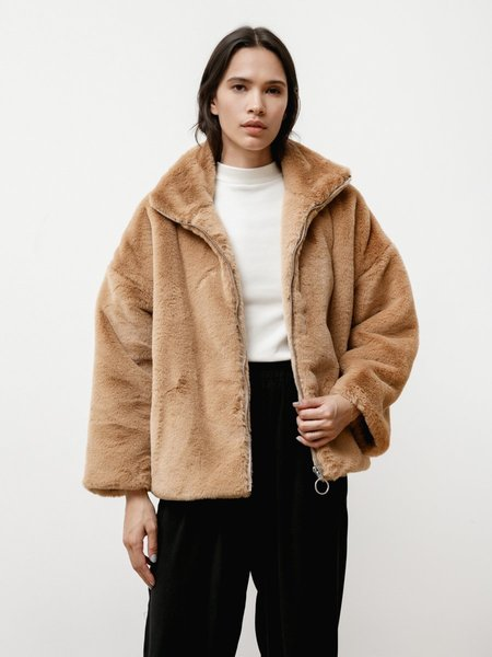 Priory Faux Fur Greatcoat - Camel