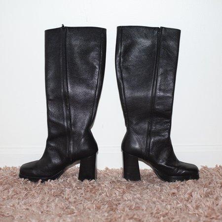 Kintsugi Platform Boots - Black