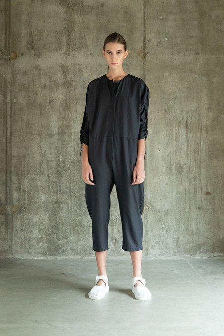 Oyuna Cotton Woven Jumpsuit - Fossil